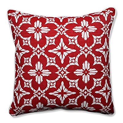 """Pillow Perfect Outdoor/Indoor Aspidoras Apple Floor Pillow, 25"""" - Includes one (1) outdoor floor pillow, resists weather and fading in sunlight; suitable for indoor and outdoor use Plush Fill - 100-percent polyester fiber filling Edges of outdoor pillows are trimmed with matching fabric and cord to sit perfectly on your outdoor patio furniture - patio, outdoor-throw-pillows, outdoor-decor - 61hlUpKCPYL. SS400  -"""