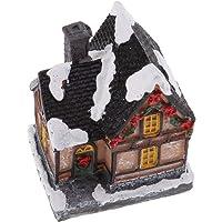 Fityle Christmas Village Lighted House FARIY Garden 7.2x9.5cm