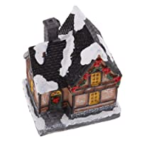 Fityle Christmas Village Lighted House FARIY Garden 7.2x9.5cm