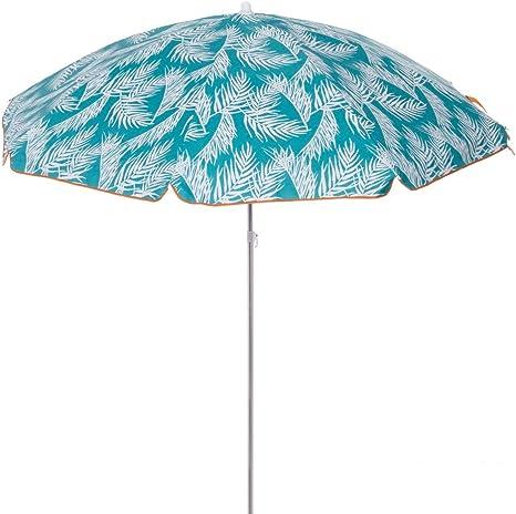 Sombrilla Playa con protecci/ón Solar de Palmeras Turquesa de Aluminio de /Ø 180 cm LOLAhome