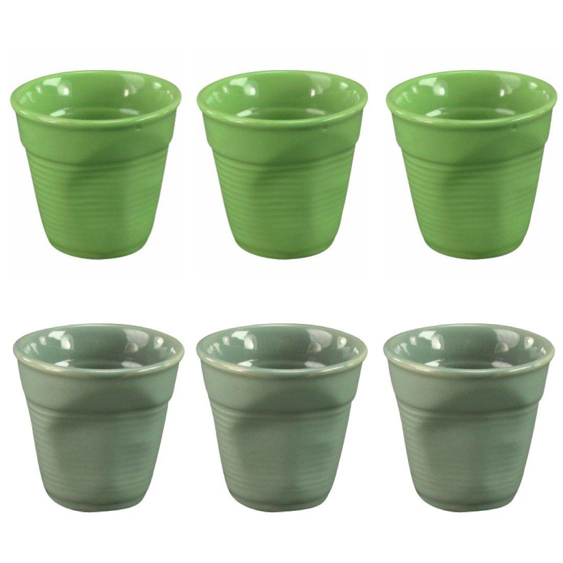 Espressotasse KNITTER   Knickbecher Aus Keramik   Becher (grün): Amazon.de:  Küche U0026 Haushalt