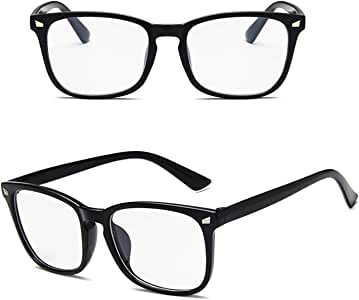 Blue Light Blocking Clear Transparent Computer Glasses Gaming Anti Blue ray Anti Eye Strain Eyeglasses Transparent Lens