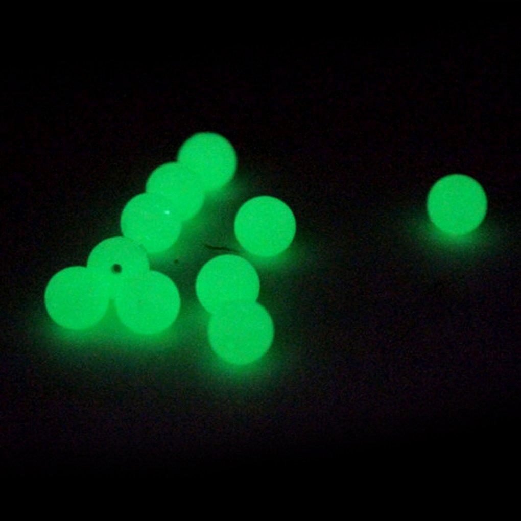 F-blue 20PCS Pesca Frijoles Cebo Resplandor Luminoso Fluorescencia Beads Space Gear