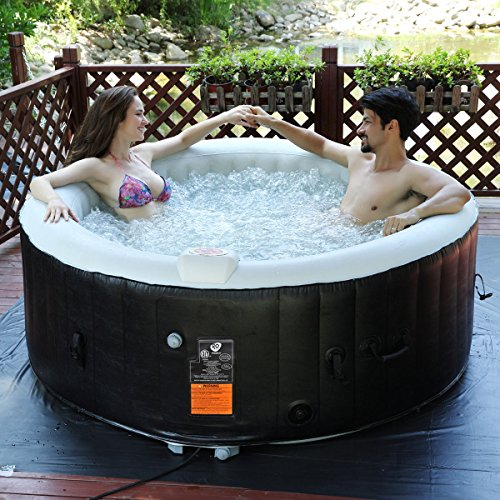 Goplus 4 Person Outdoor Portable Inflatable Hot Tub (Large Image)