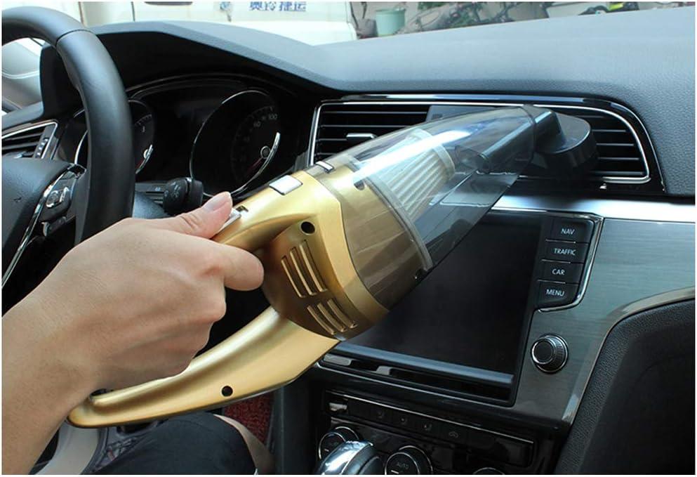 aspirapolvere portatile da 120 W senza fili aspirapolvere senza fili a secco umido a forte aspirazione per casa//auto VOANZO Aspirapolvere per auto oro