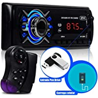 Auto Rádio Som Automotivo Bluetooth 240w Amplificado Mp3 Fm