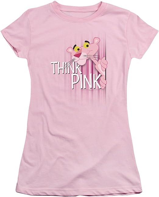 MGM Pantera rosa Think rosa Juniors Camiseta de manga corta