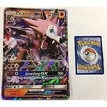 Pokemon Sun and Moon GX Promo Card Holo Rare LYCANROC GX SM14 JUMBO CARD
