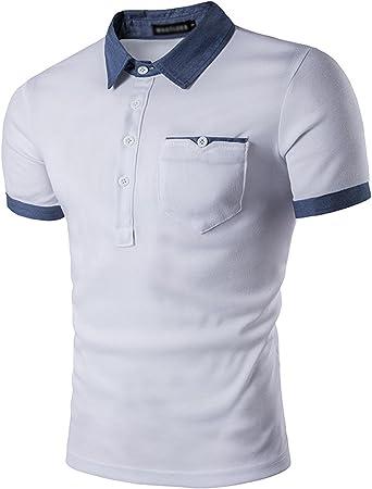 JOLIME Polo para Hombre Moda Camiseta Manga Corta Algodón ...