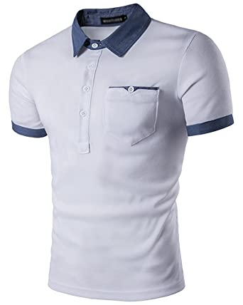 63a830df8b4 JOLIME Polo para Hombre Moda Camiseta Manga Corta Algodón Contraste Casual  Golf Tenis Camisa  Amazon.es  Ropa y accesorios