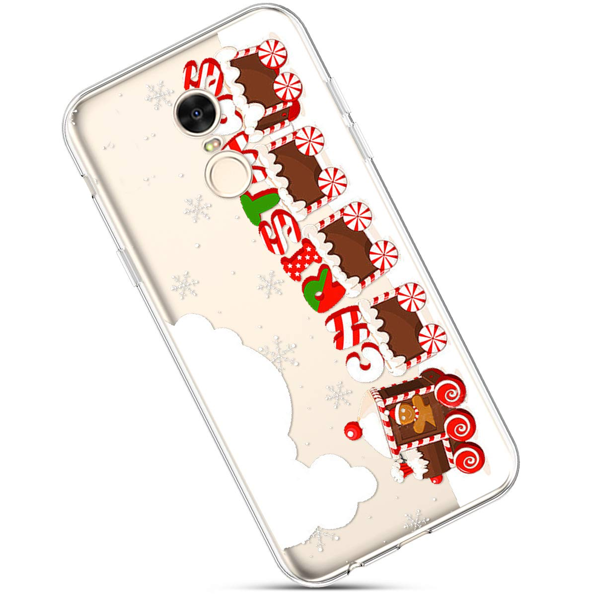 Clair Coque pour Xiaomi Redmi 5 Plus, É tui Housse Redmi 5 Plus, Redmi 5 Plus Case Transparente Crystal Souple Silicone Housse de Protection avec Motif Christmas De noë l Flocon de Neige Étui Housse Redmi 5 Plus Okssud DYY2018002469#19