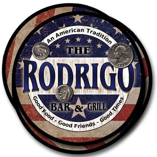 Rodrigo Bar&Grill Family Name Neoprene Rubber Coasters - (Rodrigo Rubber)