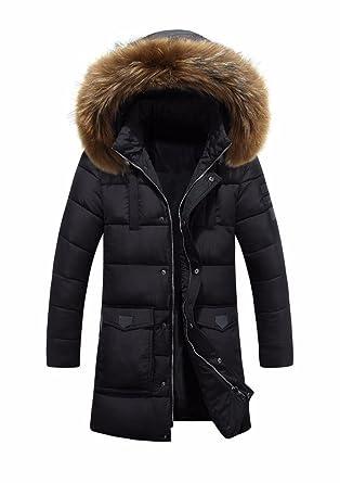 eaf13908ce1 2018 Winter Puff Jacket Men Coats Thick Warm Casual Fur Collar Long ...