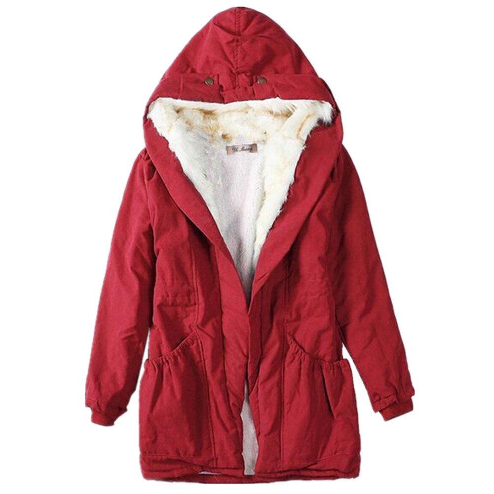 Newbestyle Women Winter Thicken Faux Fur Hooded Parka Overcoat Long Jacket X170917CTC