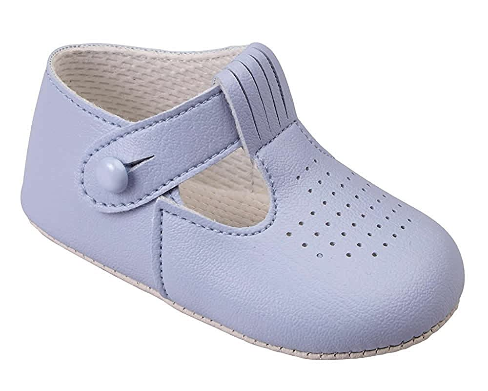 Soho Fashions Luxury British Made Baby Boy Sky Blue, Navy Blue, Cream/Ivory Special Occassions Wedding Christening Baypod Shoes by Early Days