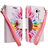 Wydan Case for LG Leon LTE/Power L22C / Destiny L21G - Credit Card Wallet Style Flip Style Cover Wydan Case for LG Leon LTE/Power L22C / Destiny L21G - Colorful Flower w/Stylus Pen