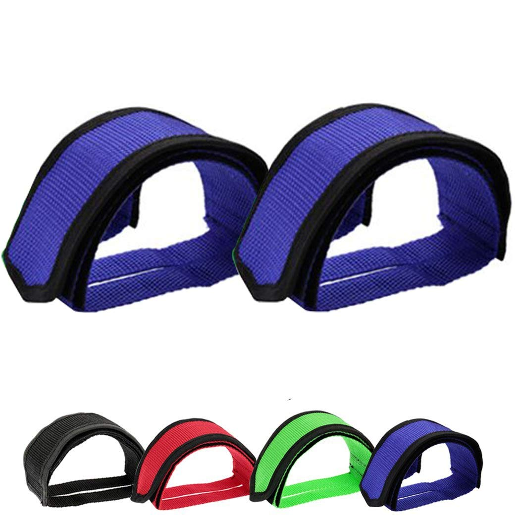 WXJ13 2 Pair Bicyle Pedal Straps Pedal Bike Toe Clips Straps Tape for Fixed Gear Bike with 1 Pair Bicycle Handlebar Tape