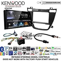 Volunteer Audio Kenwood DDX9704S Double Din Radio Install Kit with Apple Carplay Android Auto Fits 2011-2013 Buick Regal (Black)