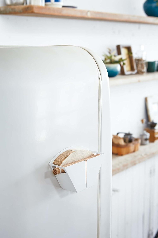 Yamazaki Home Magnetic Coffee Filter Holder White Kitchen Storage Organizer