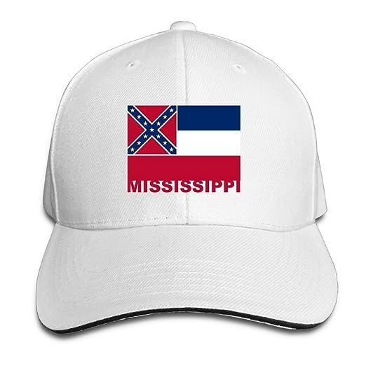 ... hot pb zinan adult vintage mississippi state flag snapback hat dad hat  black sandwich peaked cap ... 0f6043159
