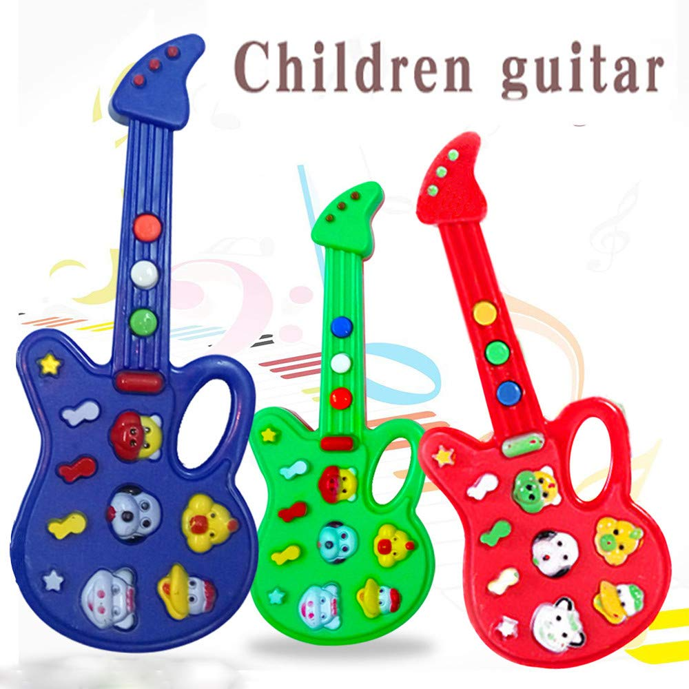 Wenini Guitar Toy Baby Kids Cute Electronic Guitar Rhyme Developmental Music Sound Child Toys Gift (Random Color) by Wenini (Image #2)