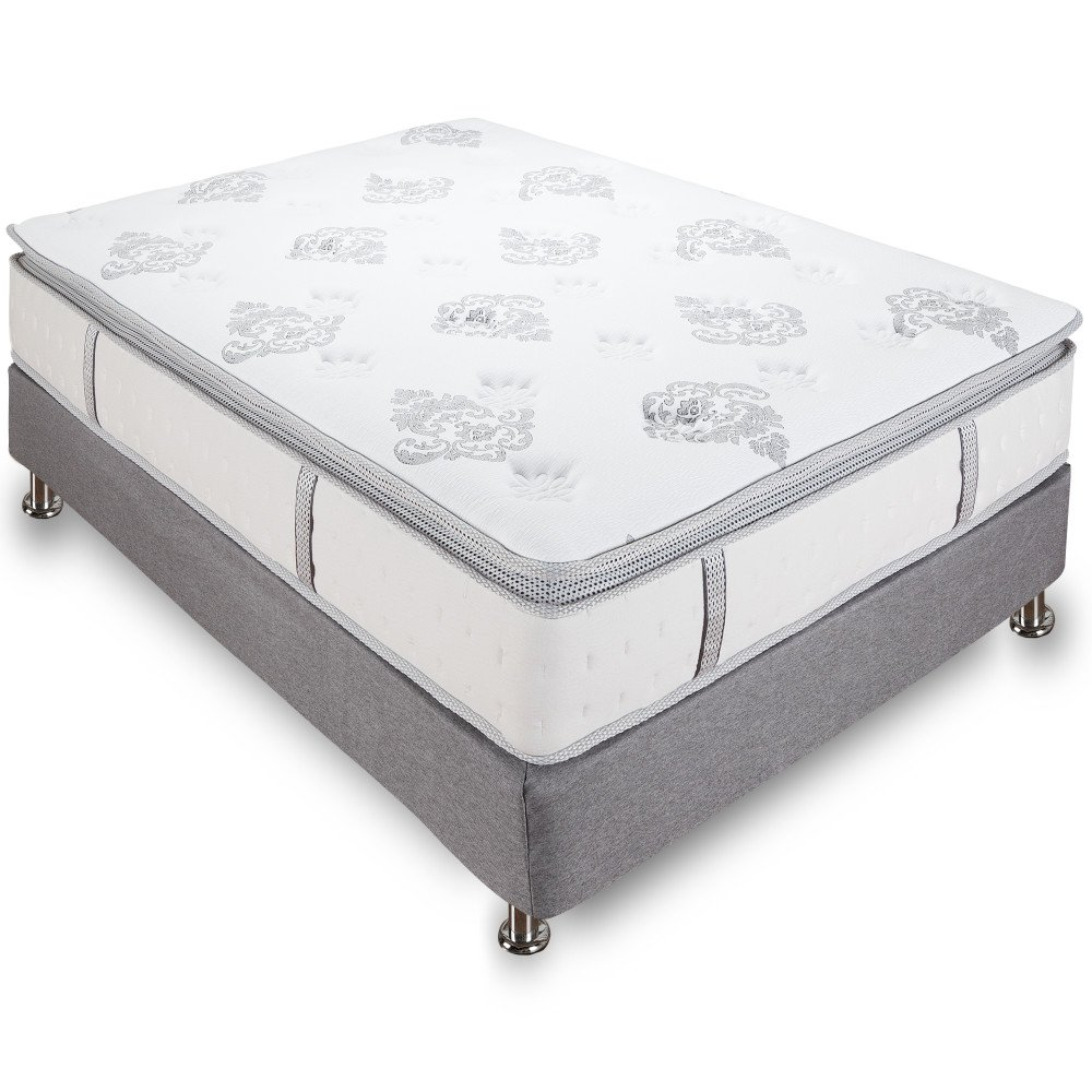 Queen Size Mattress 12 Inch Pillow-Top Cool Gel Memory ...