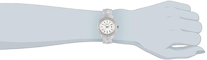 Amazon.com: Fossil Womens ES2670 White Plastic Bracelet White Glitz Analog Dial Watch: Fossil: Watches