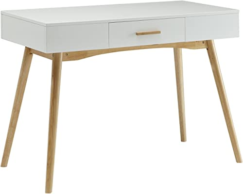 Convenience Concepts Oslo 1-Drawer Desk, White