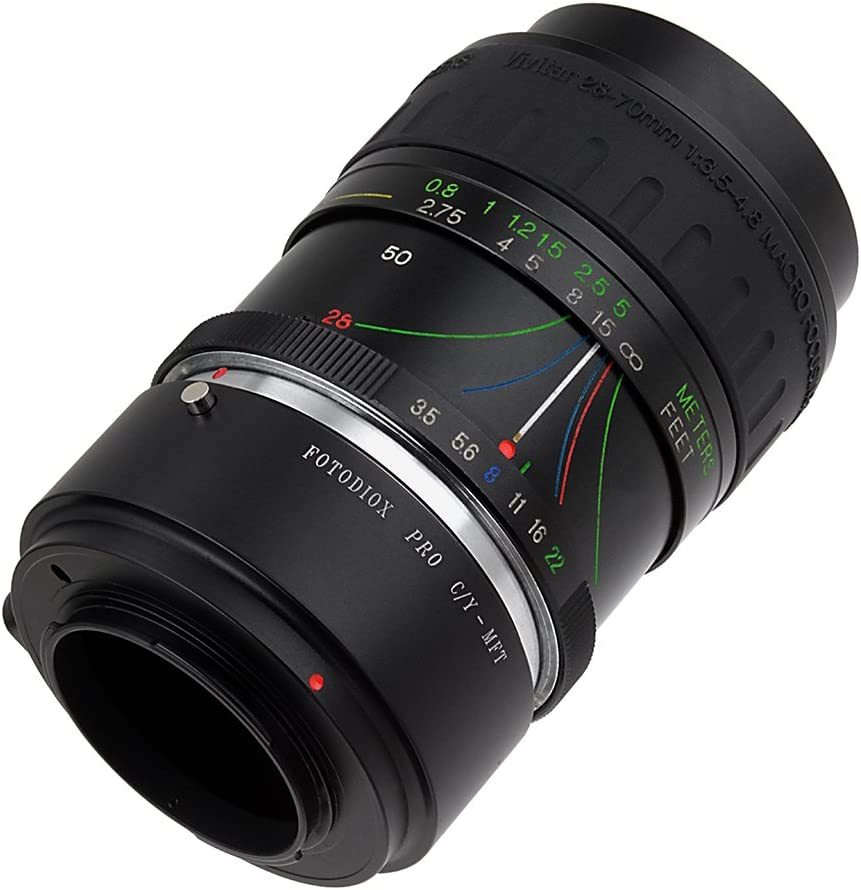 Fotodiox Pro Lens Mount Adapter Contax//Yasahica Such as OM-D E-M10, Lumix GH4, and BMPCC Lenses to MFT Micro-4//3, M4//3 C//Y, CY Mount Mirrorless Camera