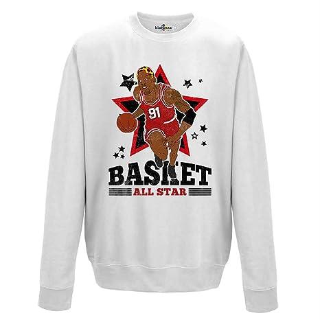 Sudadera cuello redondo Basket Vintage Parodia Dennis All Star Rodman The Worm 2 XL