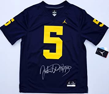 784bfede7e1 Jabrill Peppers #5 Autographed Signed Michigan Wolverines Jordan Football  Jersey Memorabilia - JSA Authentic