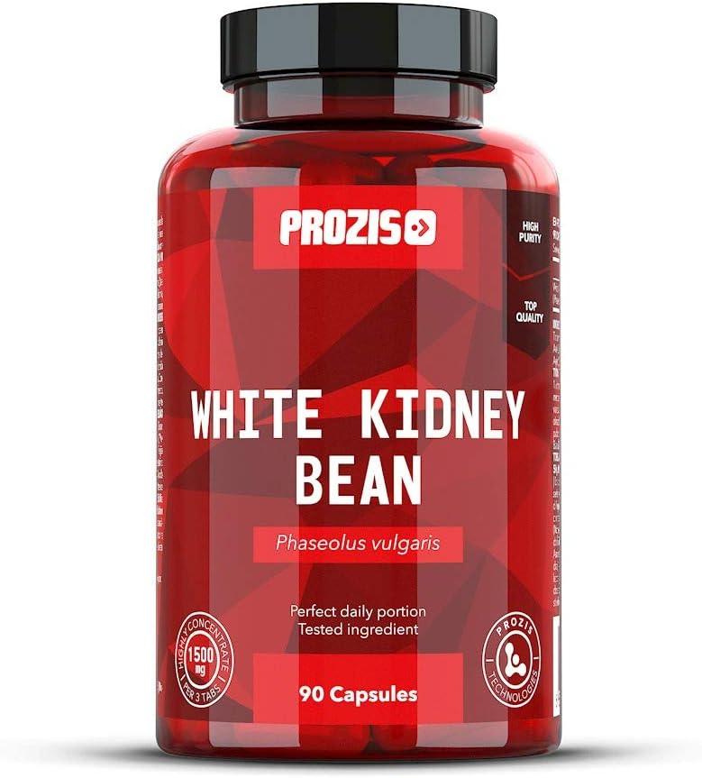 Prozis Extracto de Alubia Blanca 1500mg 90 Cápsulas - Suplemento Natural Bloqueador de Carbohidratos para La Pérdida de Peso - 30 Dosis