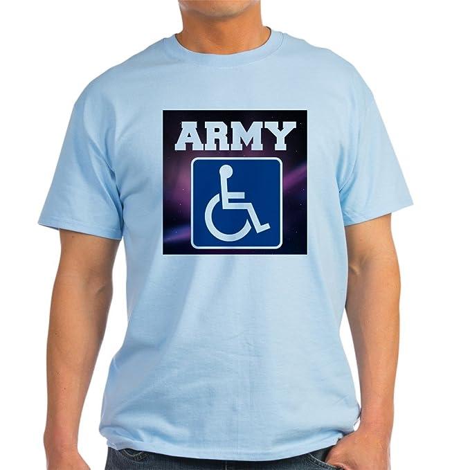 ebc0e6a69b CafePress Army Handicapped Disabled T-Shirt 100% Cotton T-Shirt Light Blue
