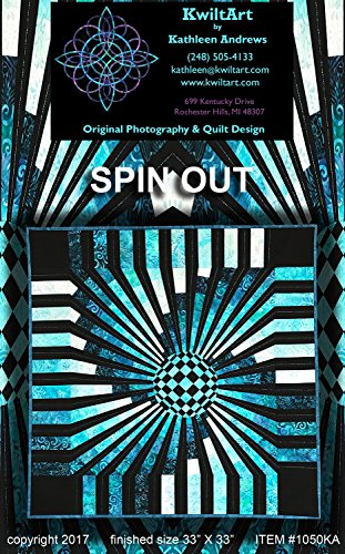 Spin Out 3-D Illusion Quilt Pattern KwiltArt Strip Pieced (Strip Out)