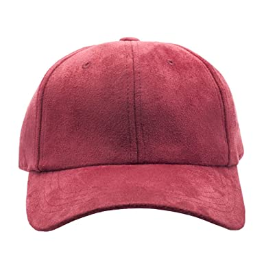 00556a3f Amazon.com: Modern Hats and Shirts Blank Faux Suede Dad Hat - Red: Clothing