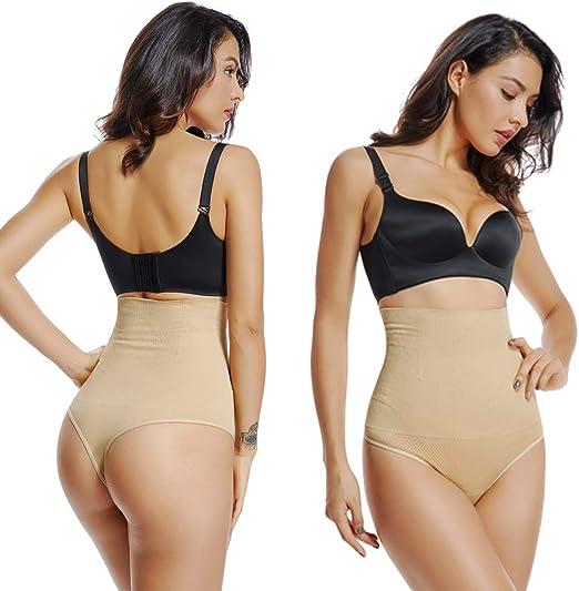 Mieder String Unterhosen Tanga Damen Hohe Taille Taillenformer Slips Panties S-L
