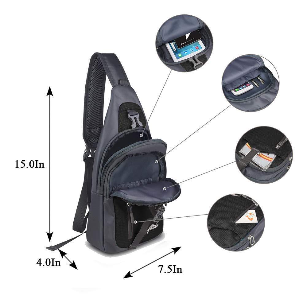 Nylon Crossbody Sling Bag Shoulder Backpack by Y&R Direct