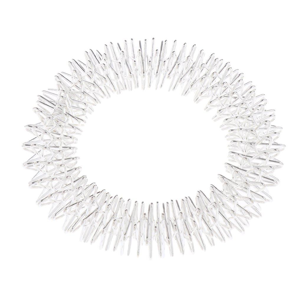 Homyl Acupuncture Bracelet Stainless Steel Acupressure Massage Wrist Band Ring Bangle Hand
