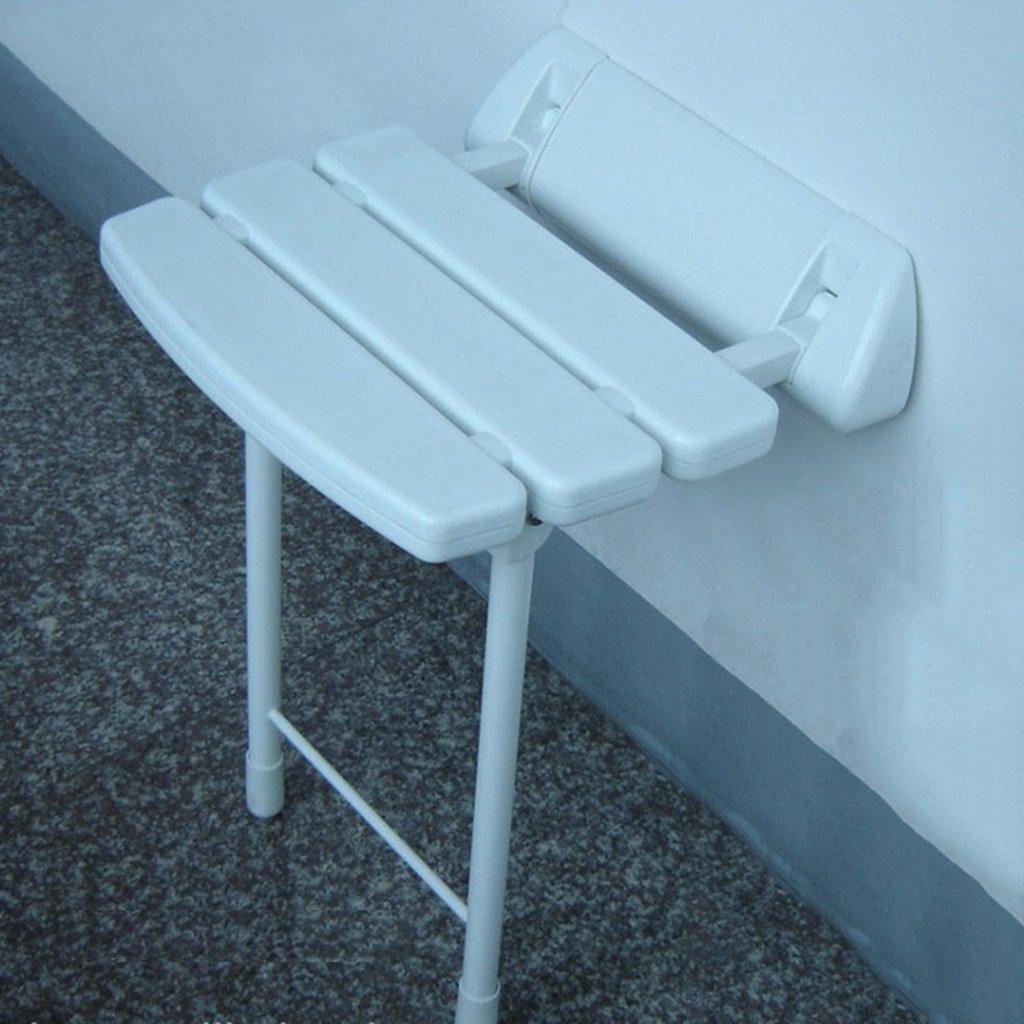 脚付き壁掛け式バスルームスツールホワイトクロームシャワースツールチェンジシューズスツール折りたたみアイドルチェアスタイルオプション B07D6GDX72