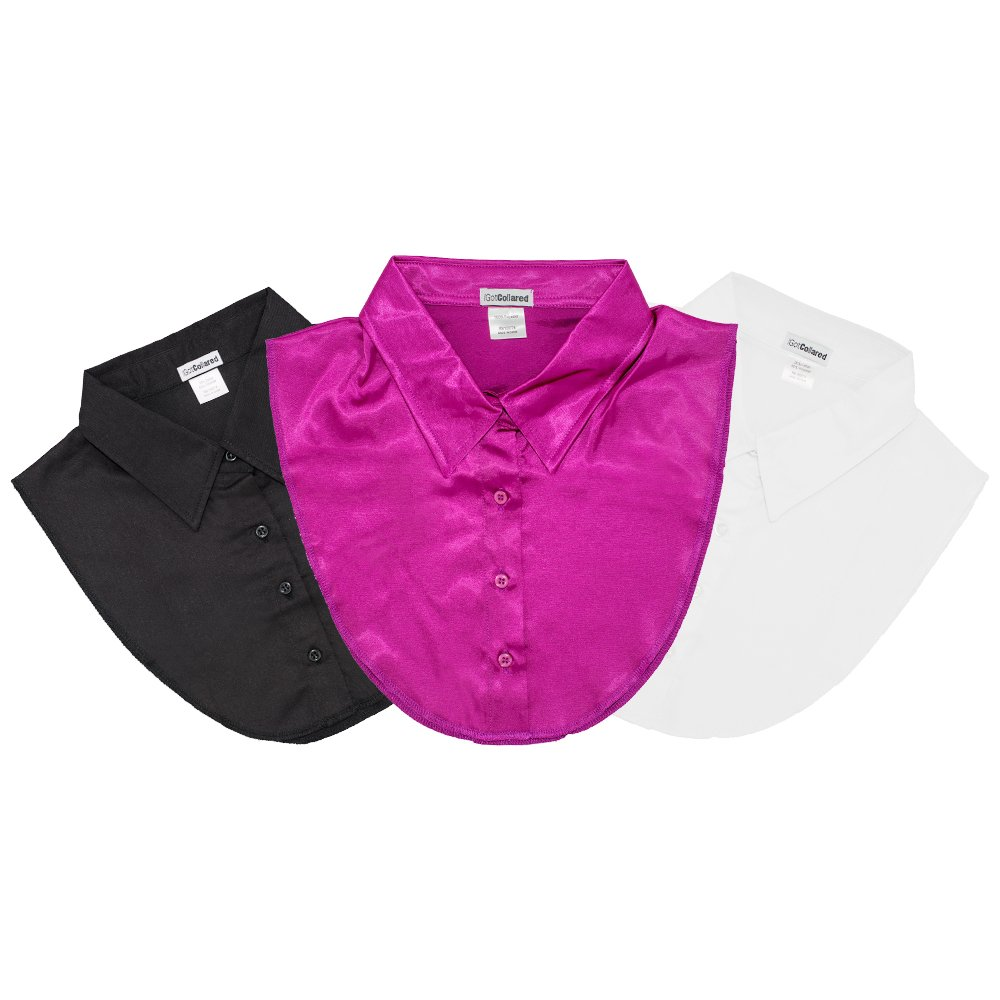 LS Parry Inc. Unisex-Adult's 3Pk Black/Orchid/White Collared Dickies by IGotCollared, One Size by LS Parry Inc.