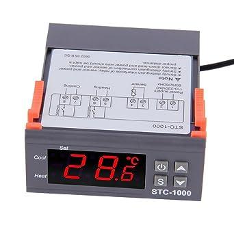 ARCELI Contr/ôleur de temp/érature num/érique STC-1000 Relais 10A avec Chauffage et Refroidissement