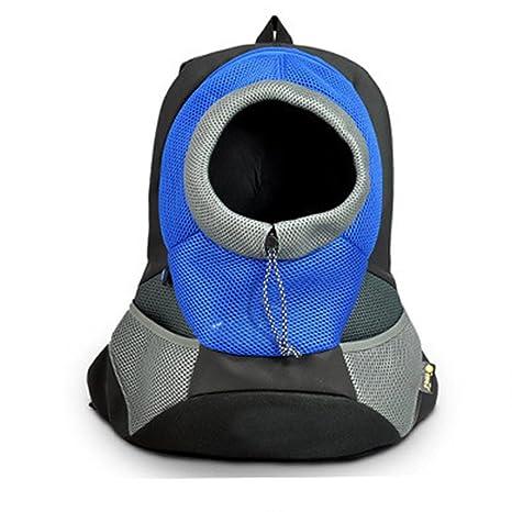 HomDSim - Mochila para perro o gato para transportar mascotas, ajustable, bolsa delantera,