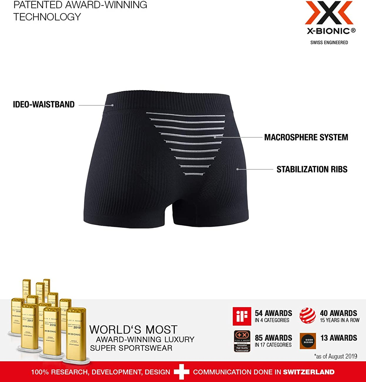 Opal Black//Artic White Boxer Shorts Donna S X-Bionic Invent
