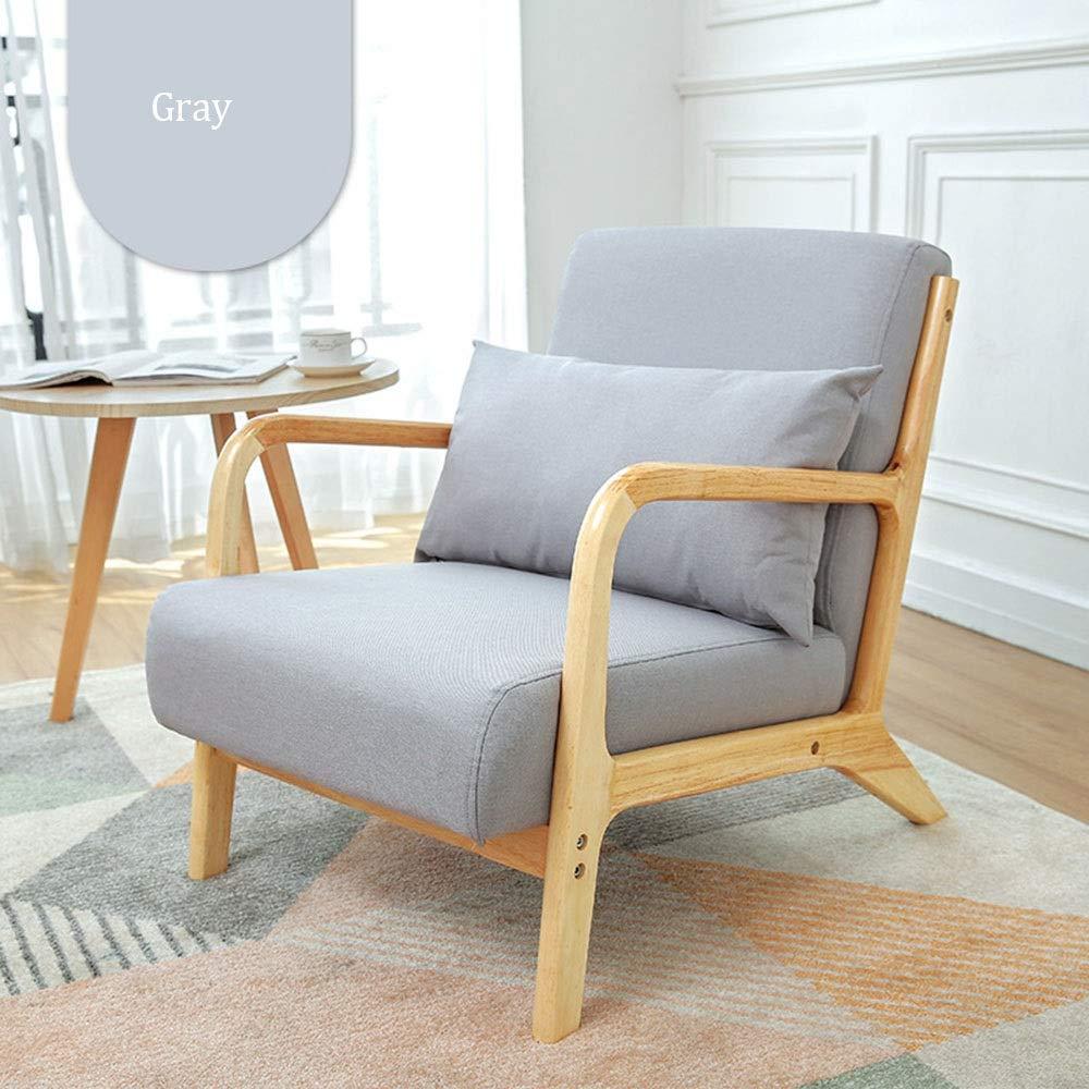 Amazon.com: Dygzh Sofa Modern Wooden Lounge Chair ...