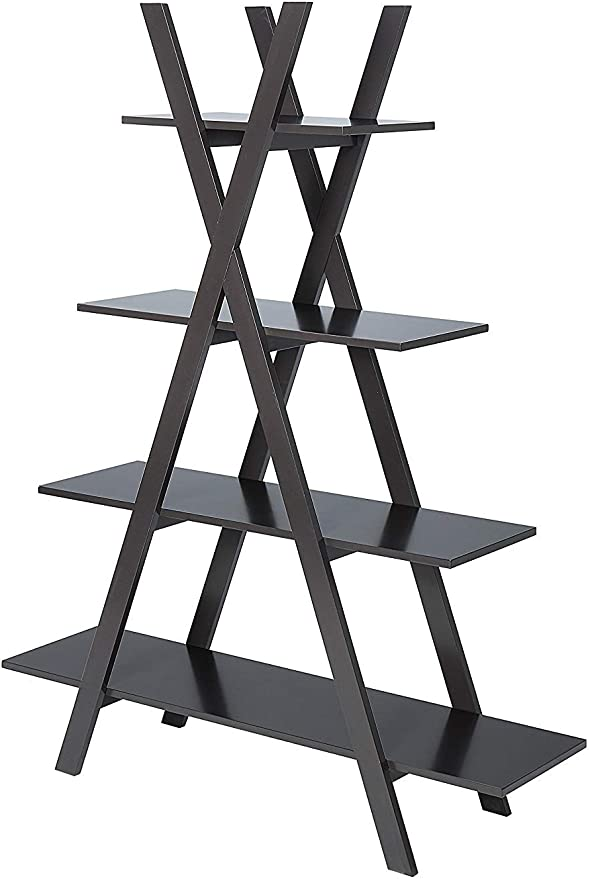 "Convenience Concepts Oxford /""a/"" Frame Bookshelf Black"