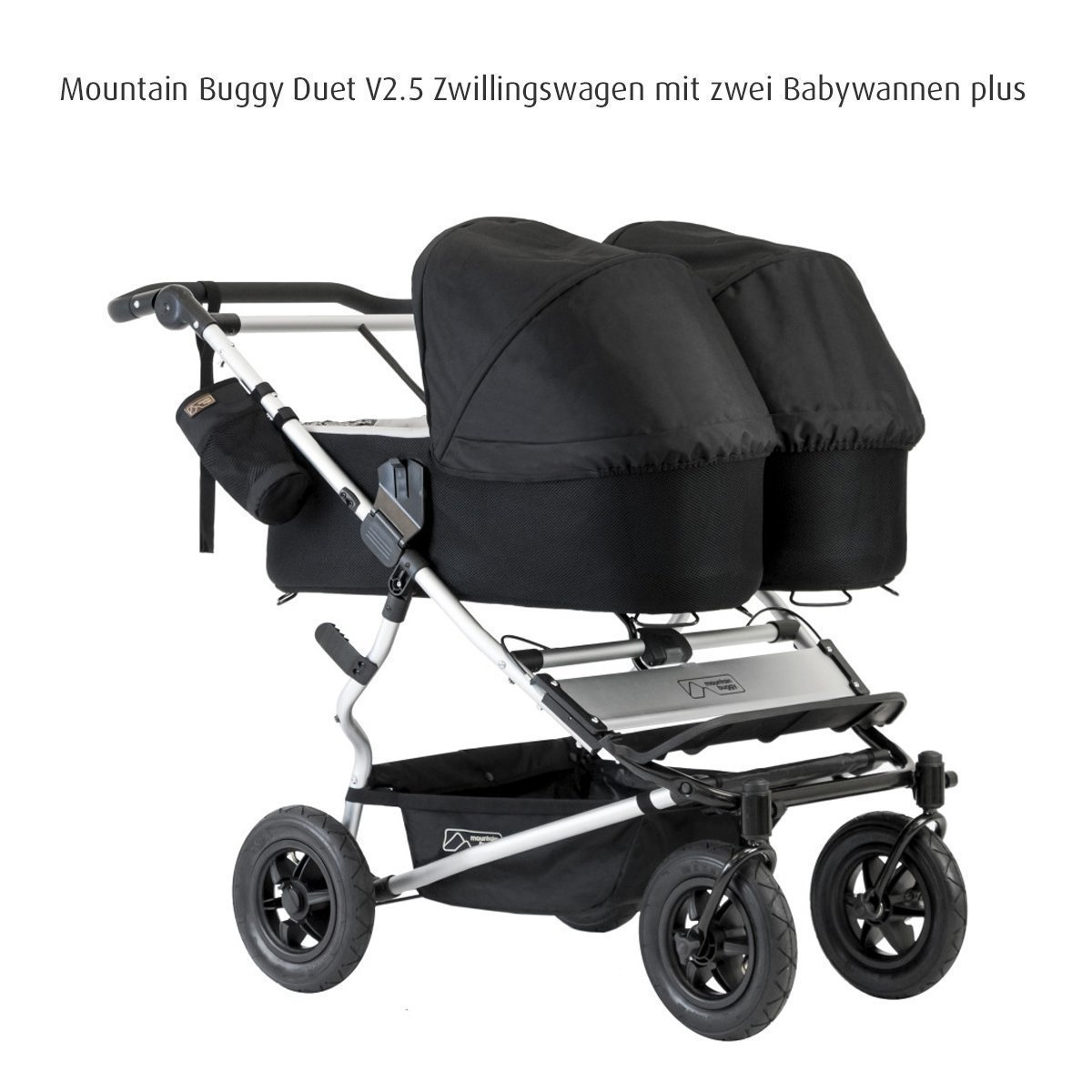 Mountain Buggy Carrycot Plus for Duet Double Stroller with Sunhood, Flint by Mountain Buggy (Image #3)