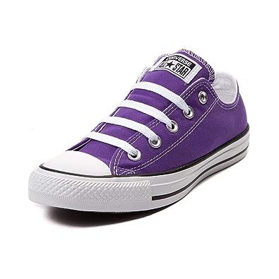 Converse Chuck Taylor All Star Lo Sneaker (Mens 9Womens 11, Hi Top Electric Purple)