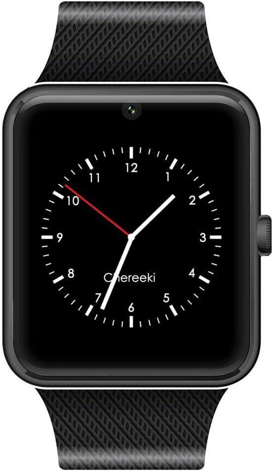 CHEREEKI Bluetooth Smartwatch con cámara soporta tarjeta SIM TF ...
