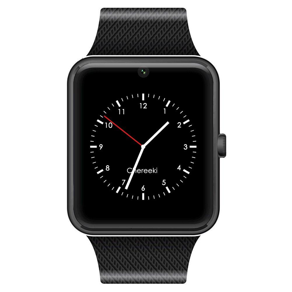 CHEREEKI Bluetooth Smartwatch con cámara soporta tarjeta SIM TF Reloj de teléfono