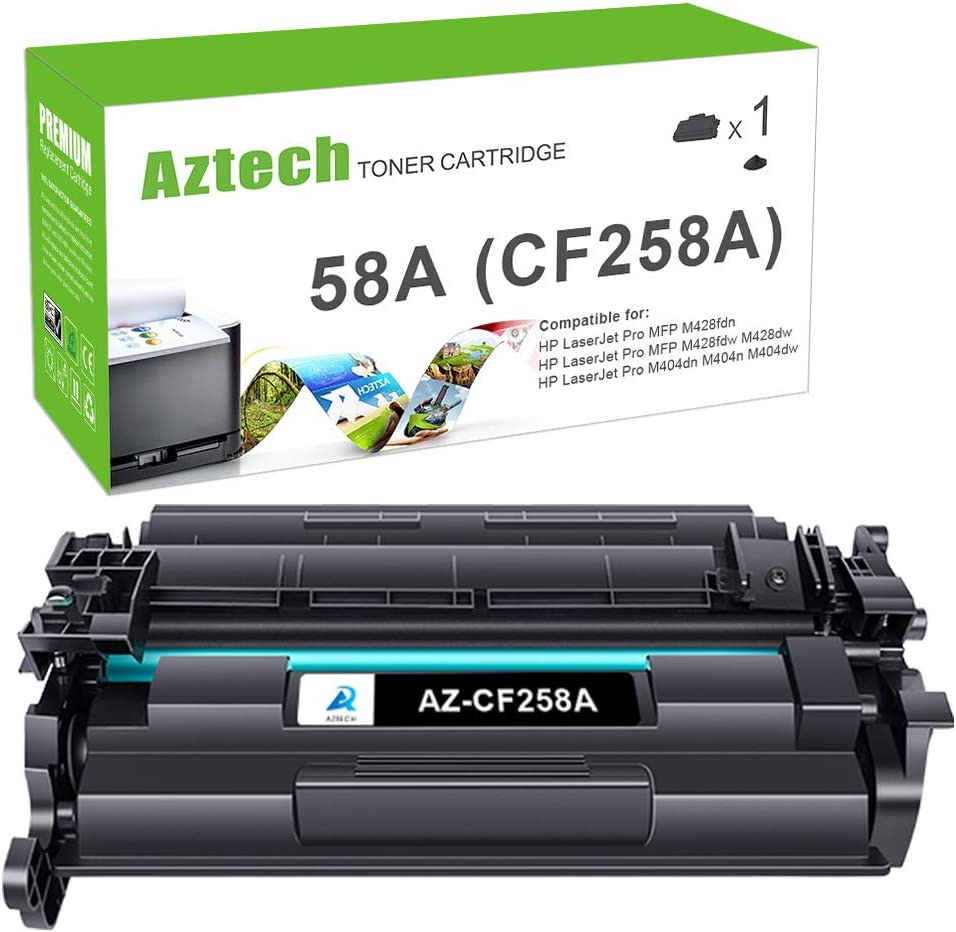 Aztech Compatible Toner Cartridge Replacement for HP 58A CF258A 58X CF258X Laserjet Pro M404n M404dn MFP M428fdw M428dw (Black, 1-Pack)